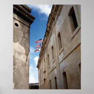 Poster Drapeaux à San Juan