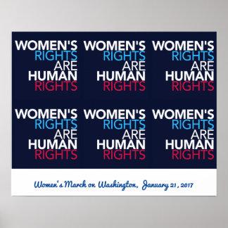 Poster Droits de la femme - mars sur l'affiche de