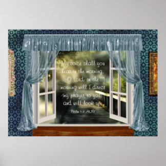 Poster Écriture sainte de prière du matin