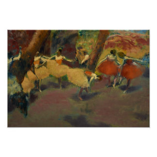 Poster Edgar Degas - avant la représentation