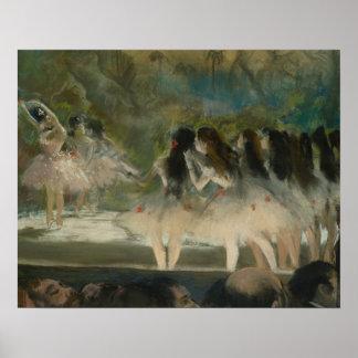 Poster Edgar Degas - ballet à l'opéra de Paris