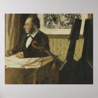 Poster Edgar Degas - le violoncelliste Pilet