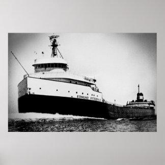 Poster Edmund Fitzgerald Great Lakes maritimes vintages