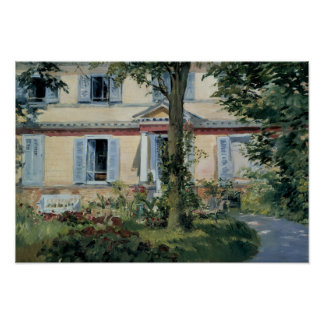Poster Edouard Manet - la Chambre chez Rueil