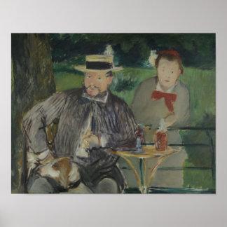 Poster Edouard Manet - portrait d'Ernest Hoschedé