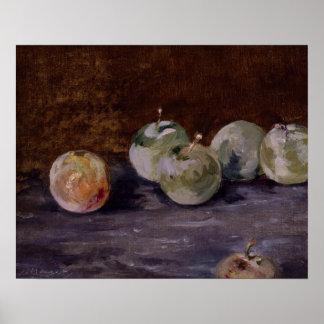 Poster Edouard Manet - prunes