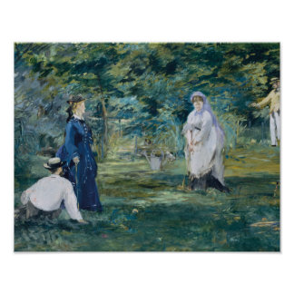 Poster Edouard Manet - un jeu de croquet