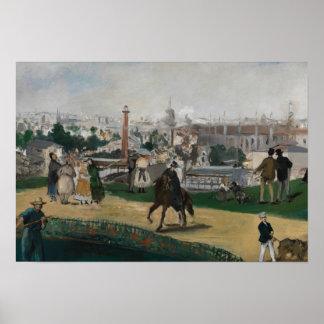 Poster Edouard Manet - vue de l'exposition universelle