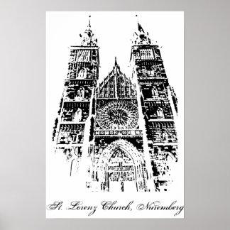 Poster Église de St Lorenz, Nuremberg
