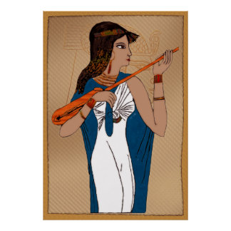 Poster Egyptien du grec ancien de Theban