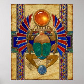 Poster Egyptien du sarcophage 3D