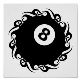 Poster eightball tribal