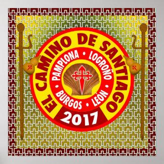 Poster EL Camino De Saint-Jacques-de-Compostelle 2017