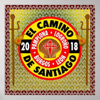 Poster EL Camino De Saint-Jacques-de-Compostelle 2018
