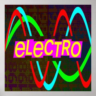 Poster Électro de cru du tigre 80s de Corey