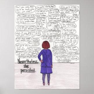 Poster Elle a persisté (Childfree) 11x14