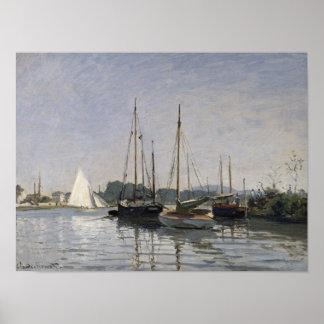 Poster Embarcations de plaisance de Claude Monet |,