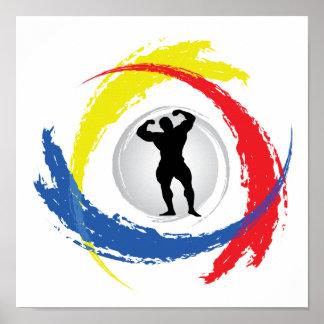 Poster Emblème tricolore Bodybuilding