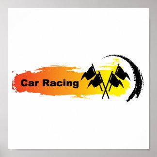 Poster Emblème unique de courses d'automobiles