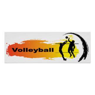 Poster Emblème unique de volleyball