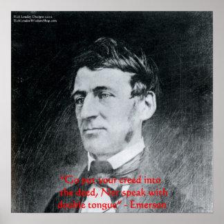 """Poster Emerson """"croyance affiche de citation de sagesse d"""