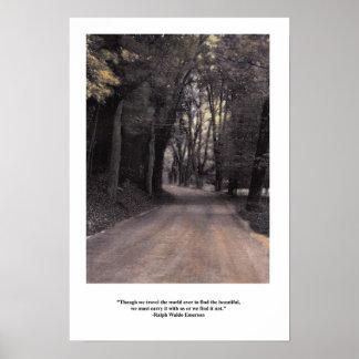 Poster Emerson portent la citation d'intérieur de beauté