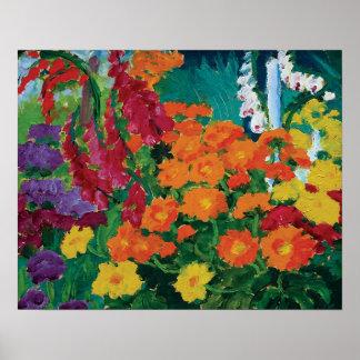 Poster Emil Nolde - jardin des beaux-arts de fleurs