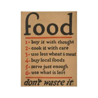 """Poster En Bois Le cru """"font pas l'affiche 1917 de nourriture de"""