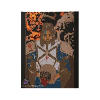 """Poster En Bois Pulpeux en affiche en bois de sang, 19"""" x 14,5 """""""