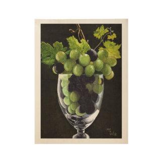 Poster En Bois Raisins bleus et verts