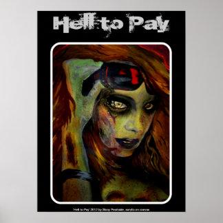 """Poster """"Enfer pour payer"""" l'affiche"""