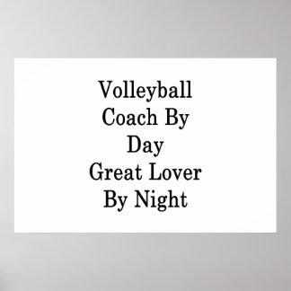 Poster Entraîneur de volleyball par le grand amant de