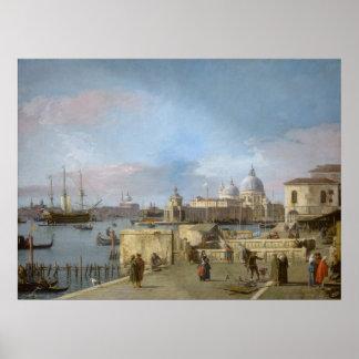 Poster Entrée au canal grand du Molo, Venise