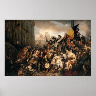 Poster Épisode de Gustaf Wappers de la révolution belge