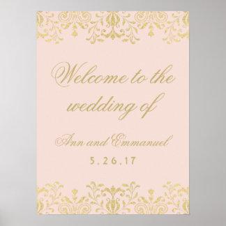 Poster Épouser le charme bienvenu de cru d'or de