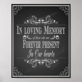Poster Épouser signent la mémoire aimante dedans
