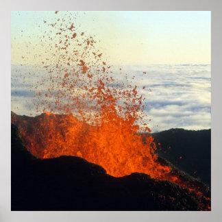 Poster Éruption volcanique