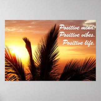 Poster Esprit positif, vibraphone positif, la vie