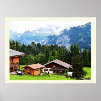 Poster Été dans les alpes suisses