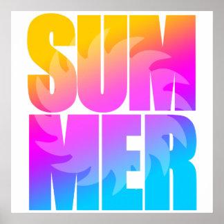 Poster Été Sun du tigre 80s de Corey