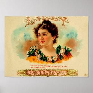 Poster Étiquette vintage de boîte à cigares
