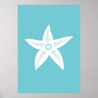 Poster Étoile de mer, affiche de poissons de mer