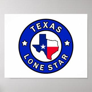 Poster Étoile solitaire du Texas