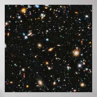 Poster Étoiles dans l'espace - champ ultra profond de