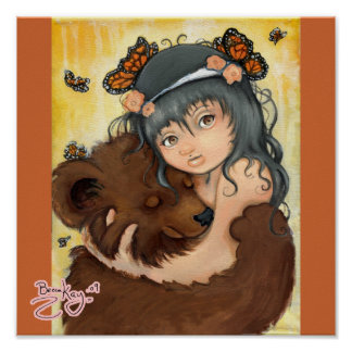 Poster Étreinte d'ours