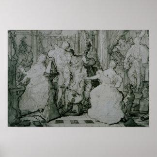 Poster Eugene Delacroix - Le Roy Rene