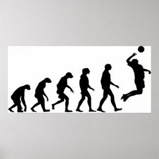 Poster Évolution de volleyball