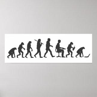 Poster Évolution d'ordinateur portable de l'homme