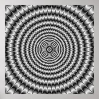 Poster Explosion circulaire d'affiche en argent
