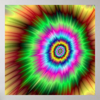 Poster Explosion d'affiche de couleur